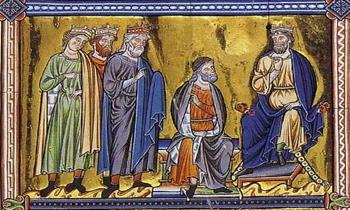 Rois-mages-devant-Herode.-Vers-1200.